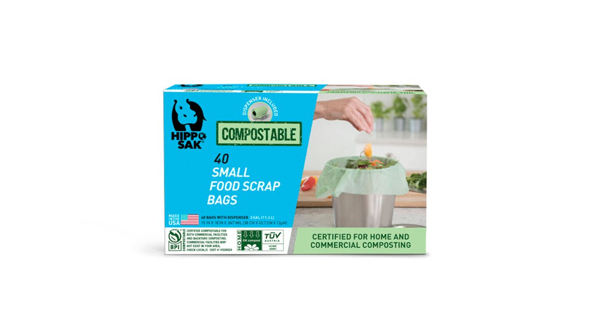 Free Hippo Sak Compostable Small Food Scrap Bags