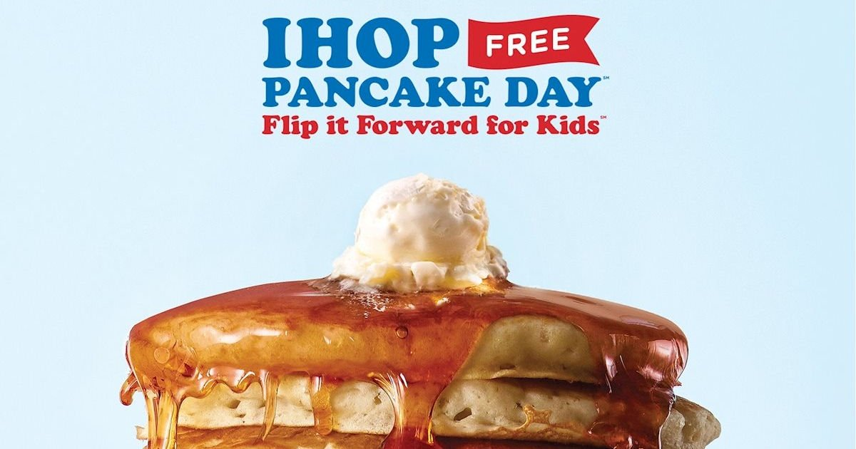 Free Short Stack of Pancakes at IHOP on 25th