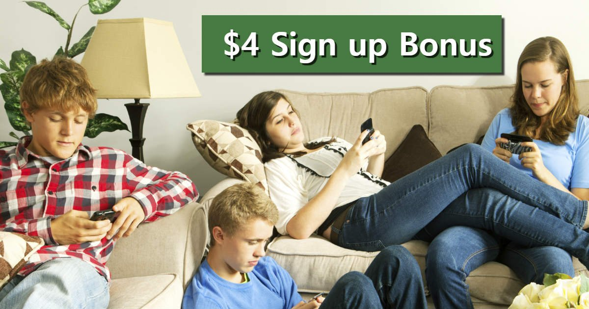 Sign up and Score $4.00 Instantly, Kids 13+ Can Register too