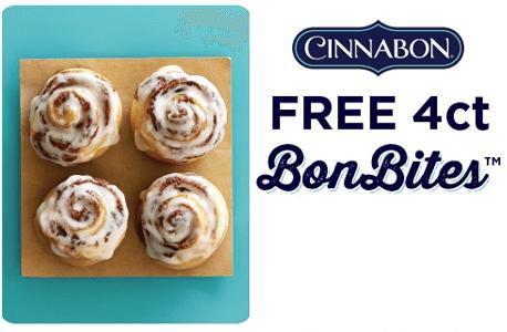 FREE 4-ct BonBites at Cinnabon