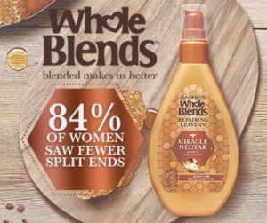 Free Garnier Whole Blends Miracle Nectar Repairing Leave-In Treatment Sample