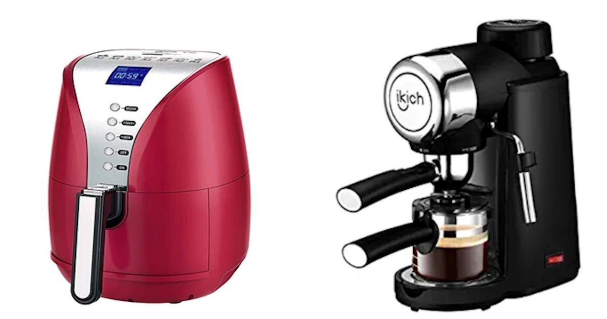 Free IKICH Panini Maker, Espresso Machine, Coffee Grinder & More