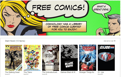 FREE 1st Issue Digital Comics from Comixology