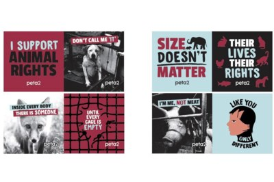 Free Stickers from PETA