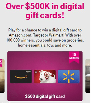 T-Mobile Tuesdays Instant Win Game (1 Day Only – 100,030 Winners)