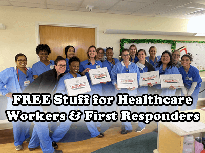 FREE Stuff for Healthcare Workers & First Responders