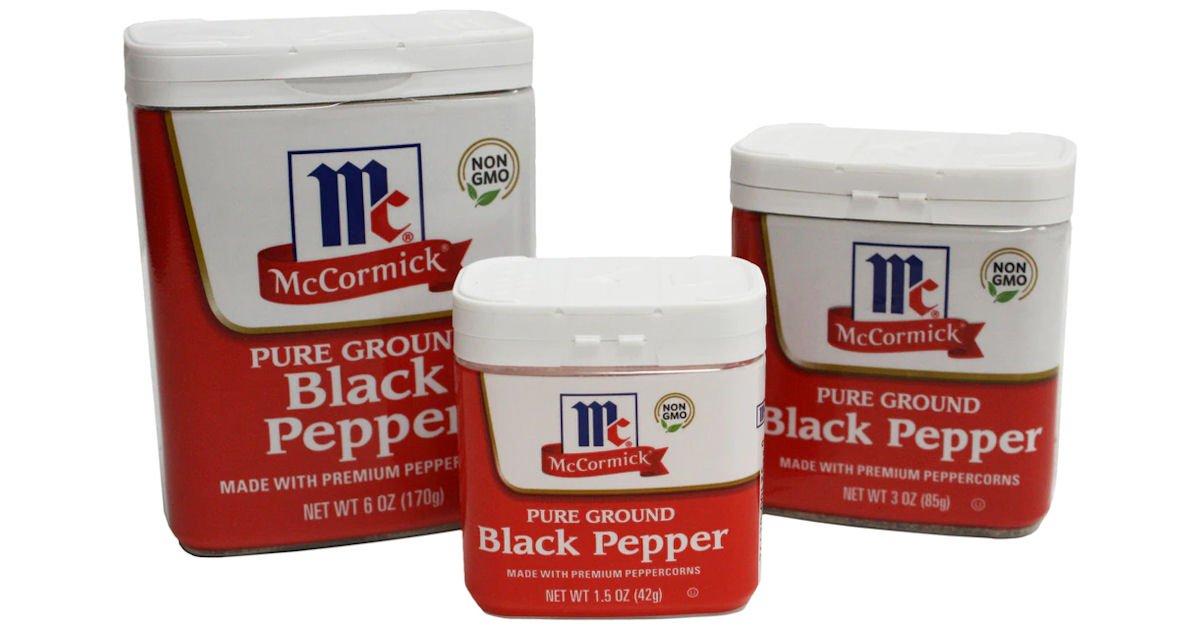 McCormick Black Pepper Class Action Settlement -$4 Per Container