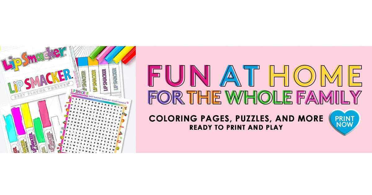 Free Lip Smacker Printable Coloring & Activity Pages