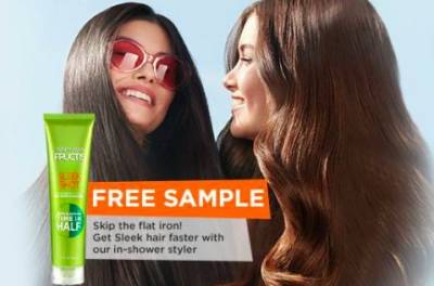 free Sample of Fructis Sleek Shot In-Shower Styler