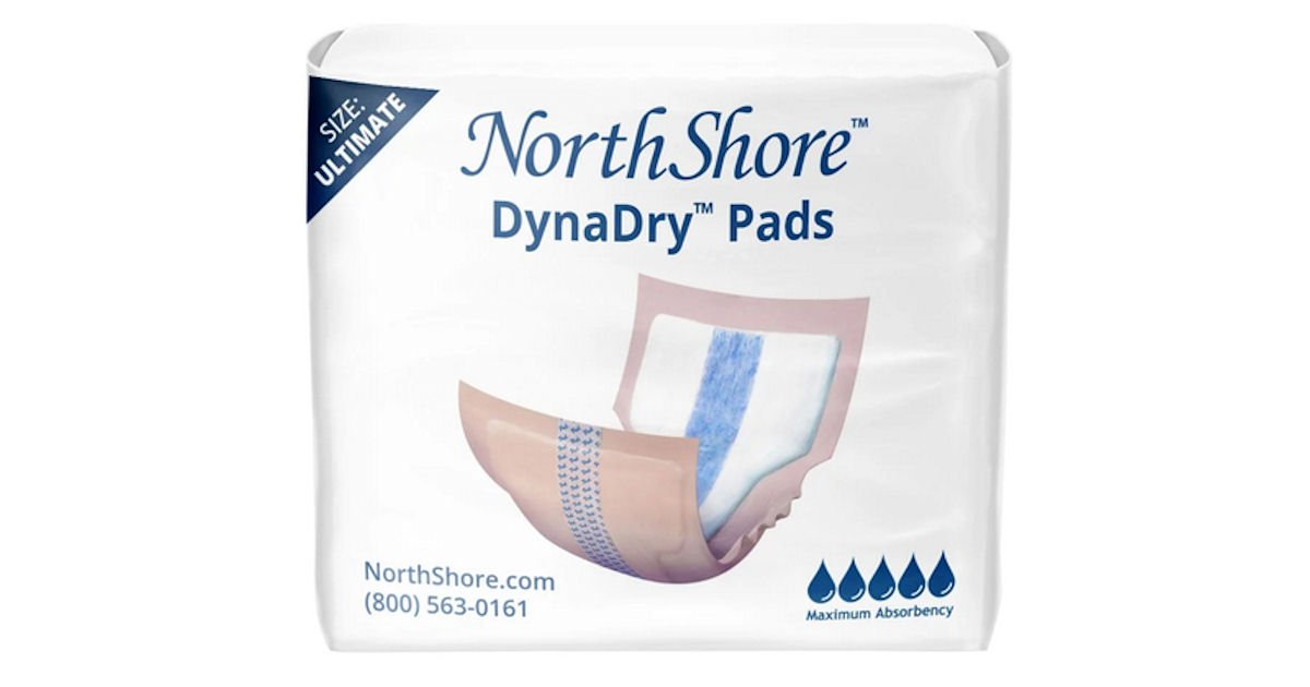 Free Sample of North Shore Care Pads, Liners, Wipes & More