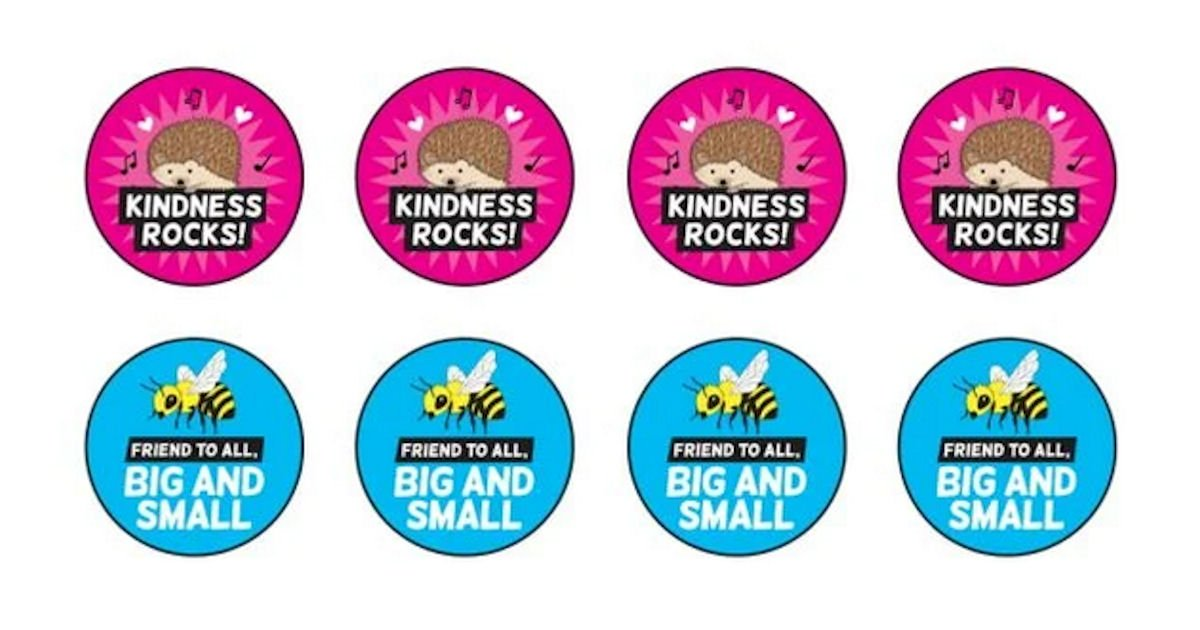 Free Encourage Compassion TeachKind Stickers
