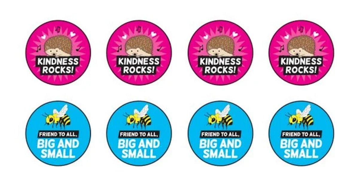 Free Encourage Compassion TeachKind Stickers