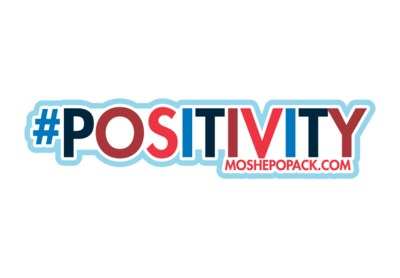#POSITIVITY Moshe Popack Sticker for Free