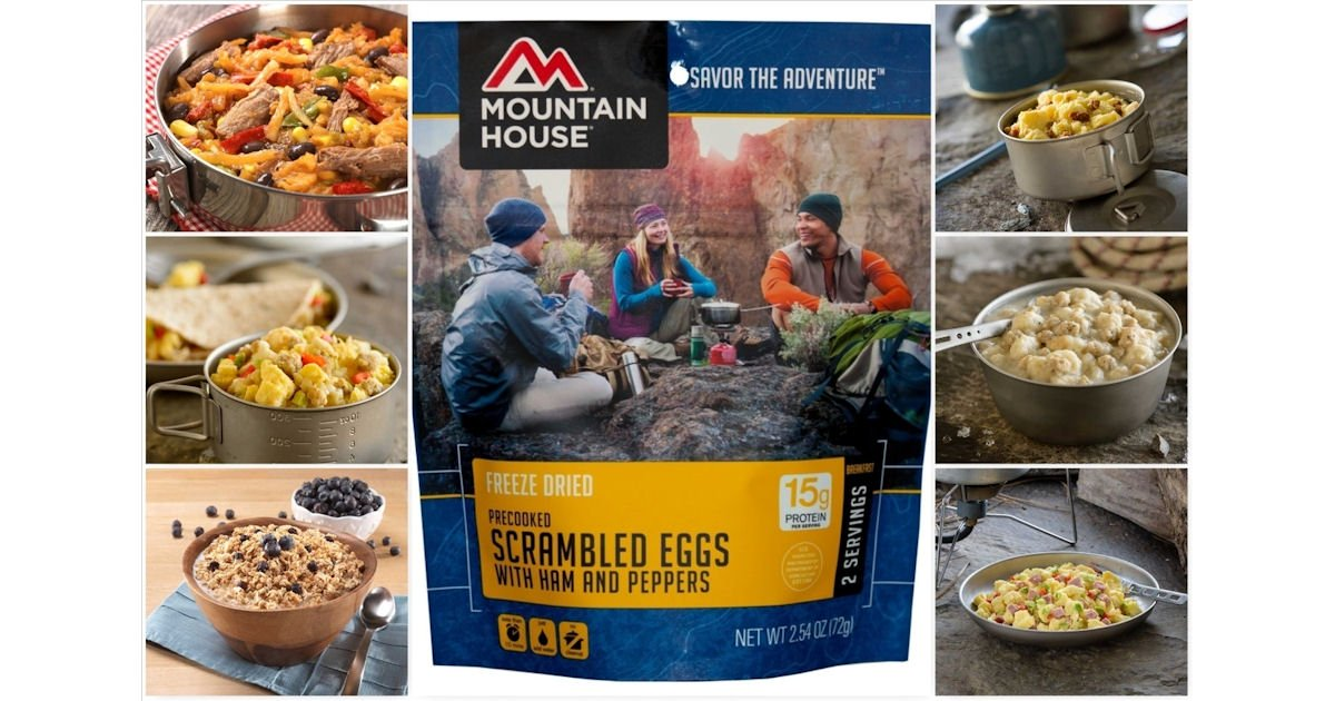 Free Sample of Mountain House Freeze Dried Food