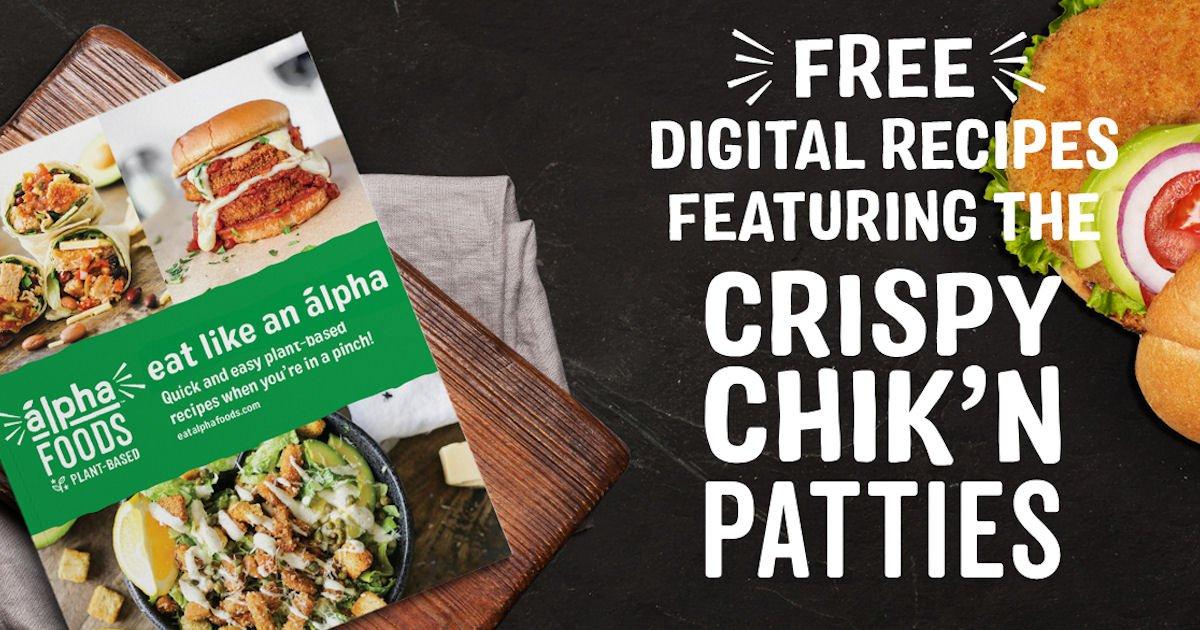 Free Alpha Foods Eat Like an Alpha Recipe eBooklet