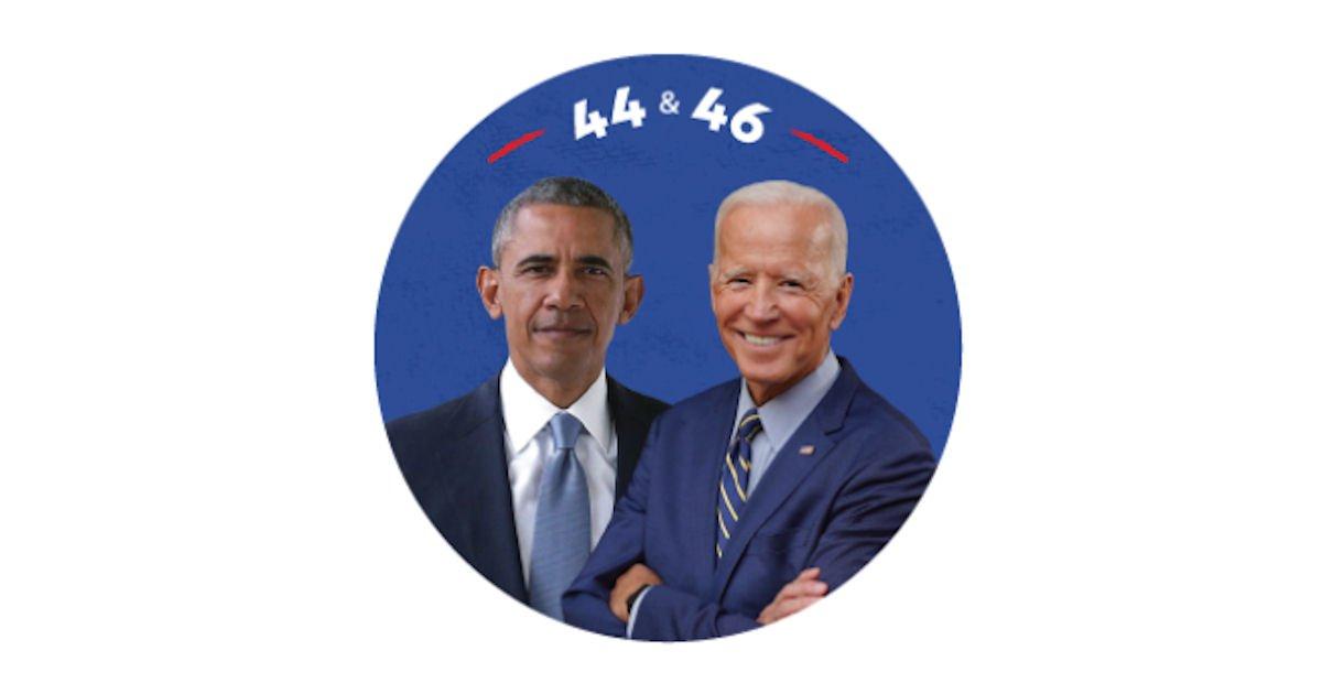 Free 44 & 46 Obama & Biden Sticker
