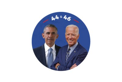 44 & 46 Obama & Biden Sticker for Free