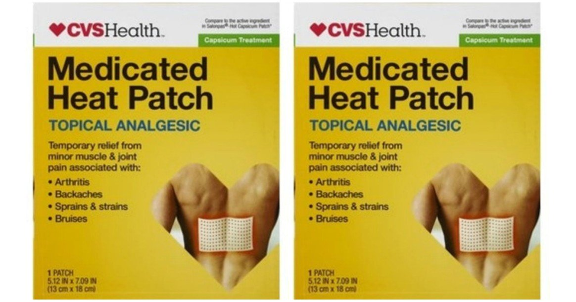 FREE CVS Health Capsaisin Heat Patch - Today Only!