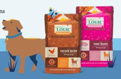 Free 1 lb bag of natures logic dog food