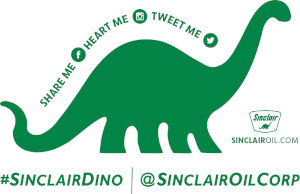 FREE Sinclair Oil Dino Sticker