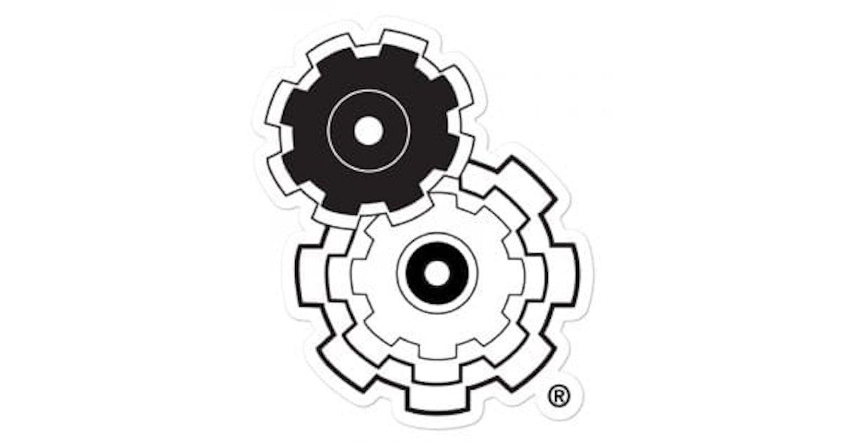 Free Simple Machine Gears Sticker