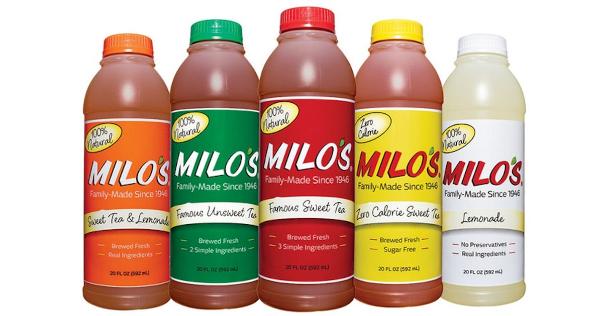 Free Milo's Tea or Lemonade