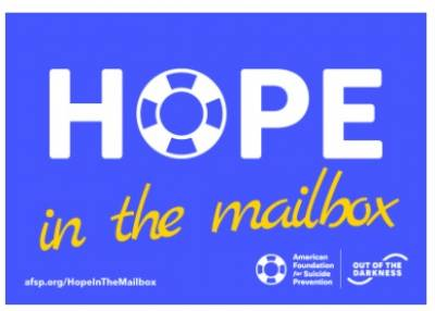 Free Postcard - Hope in the mailbox