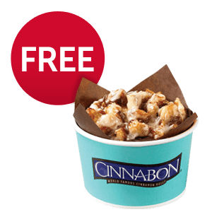 FREE Center of the Roll Cinnabon Treat at Pilot Flying J Travel Centers
