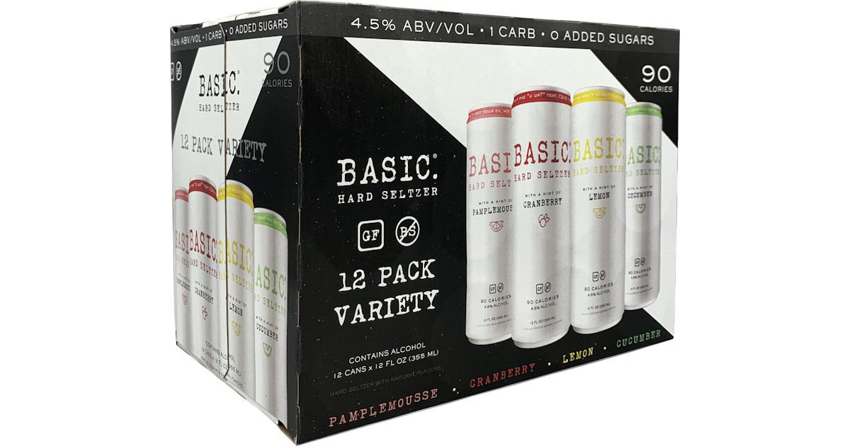 Free Basic Hard Seltzer Basic Hard Seltzer 12-Pack