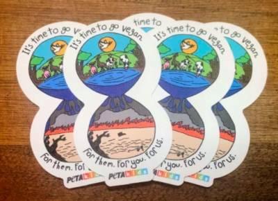 Free Sticker from PetaKids