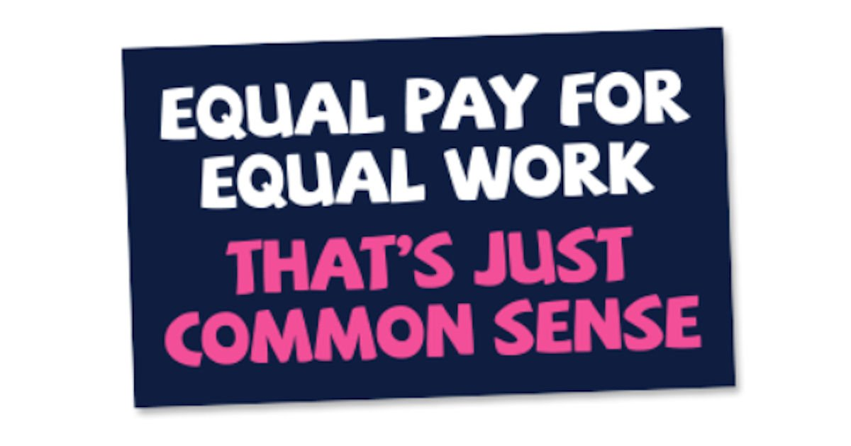Free Equal Pay for Equal Work Sticker