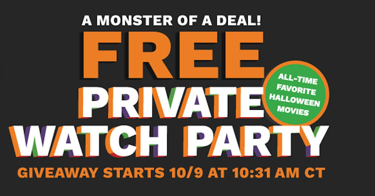 Free Cinemark Halloween Watch Party