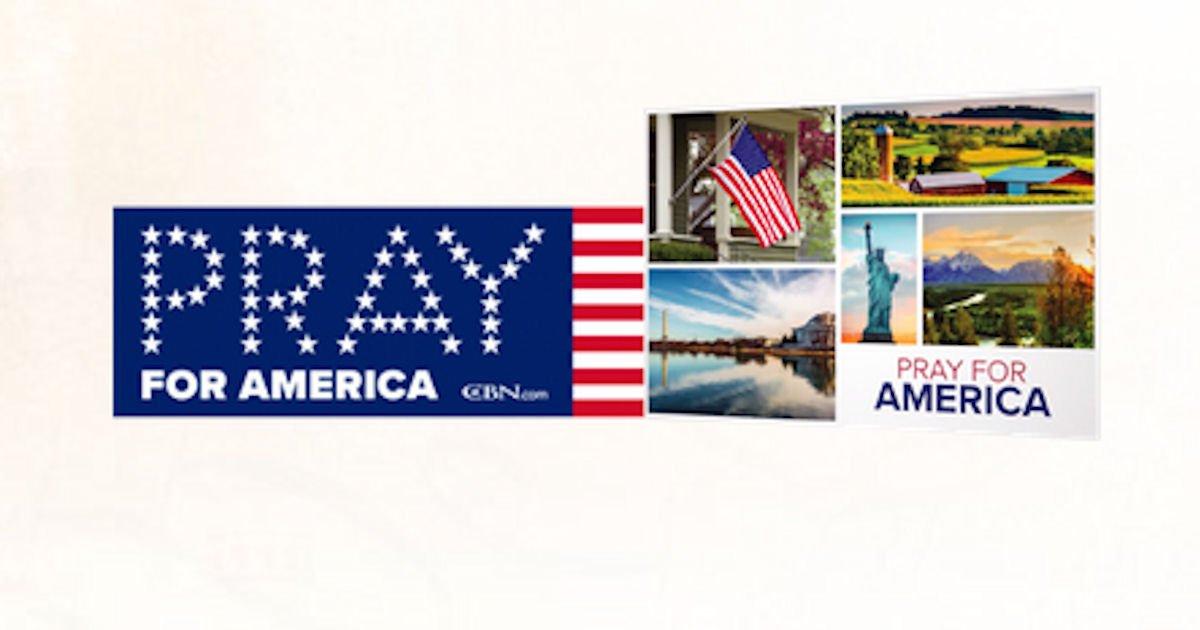 Free Pray for America Bumper Sticker & Patriotic Postcards