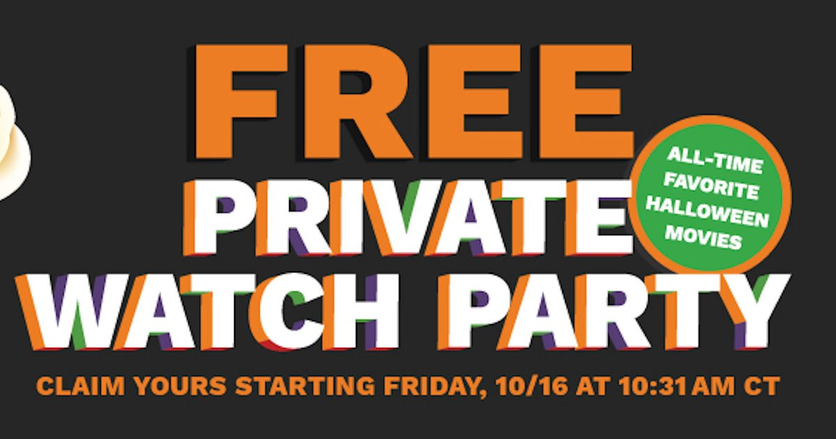 Free Cinemark Halloween Watch Party Giveaway - 11:30am Est TODAY