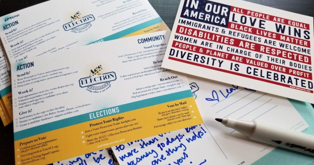 10 Free Ace the Election Postcards
