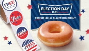 FREE Doughnut and 'I Voted' Sticker at Krispy Kreme
