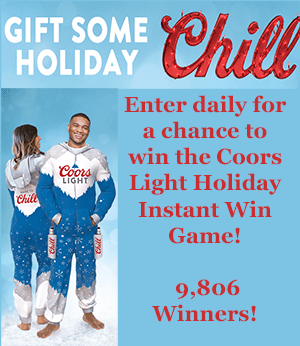 Coors Light Holiday Instant Win Game (9,806 Winners!)