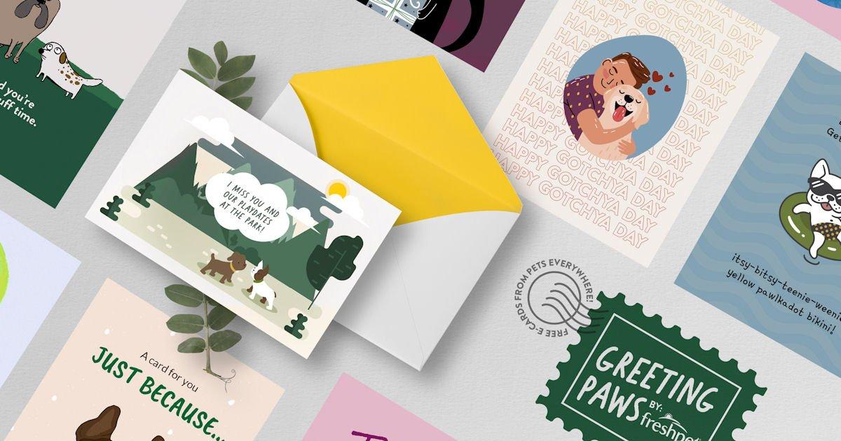 Free Freshpet Greeting Paws Digital Greeting Cards