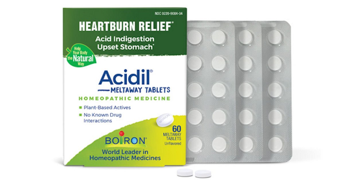 Free Boiron Acidil Meltaway Tablets