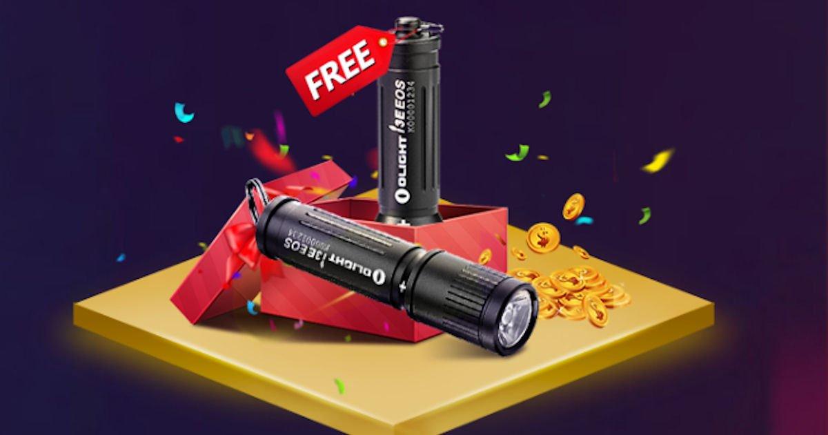 Free Olight i3E EOS Keychain Flashlight on Nov. 11th