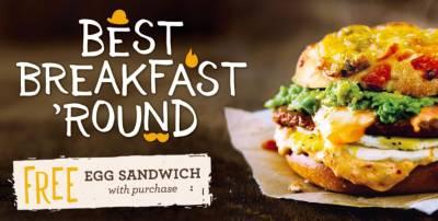 Coupon - Free Egg Sandwich