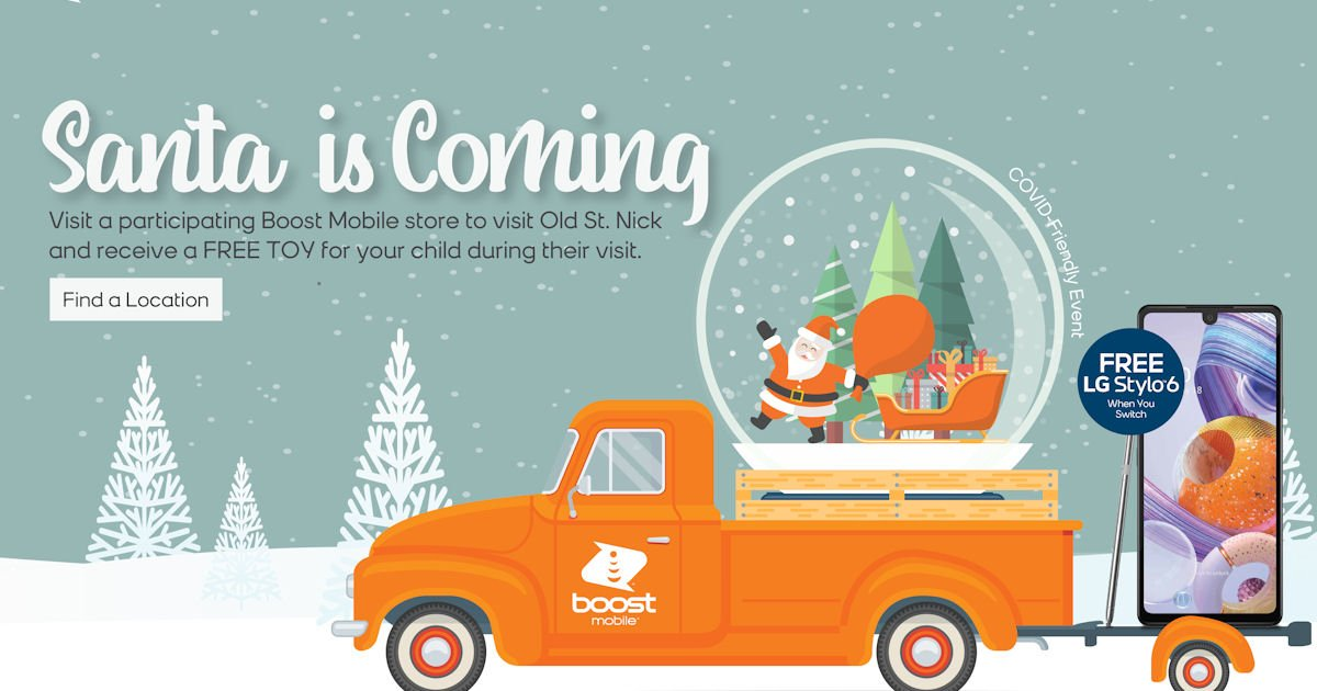 Free Toy & Photo with Santa at Boost Mobile Stores