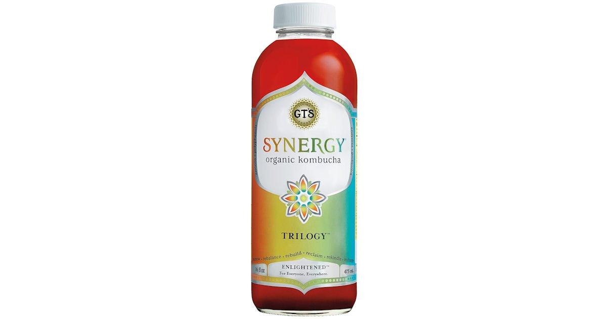 Free Bottle of GT's Synergy Raw Kombucha