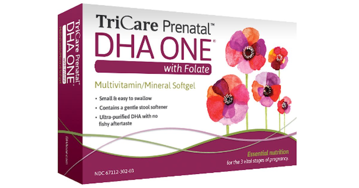 Free Sample of TriCare Prenatal DHA ONE with Folate