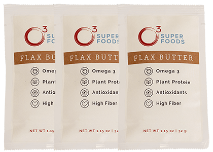 3 FREE Packets of O3 Superfoods Flax Butter