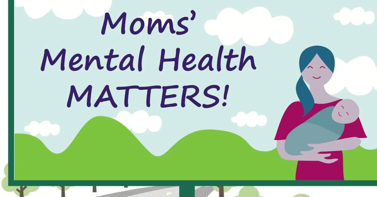 Free Moms Mental Health Matters: Happiest Time Poster