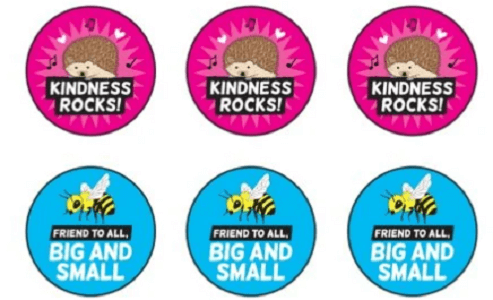 FREE Encourage Compassion TeachKind Stickers for Educators