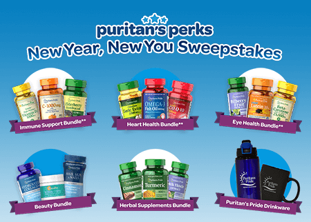 "Puritan's Pride ""New Year, New You"" Instant Win Game (280 Winners!)"
