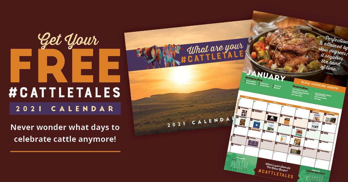 Free CattleTales 2021 Calendar