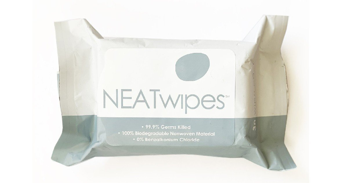 Free NEATwipes - Kills 99.9% of Germs